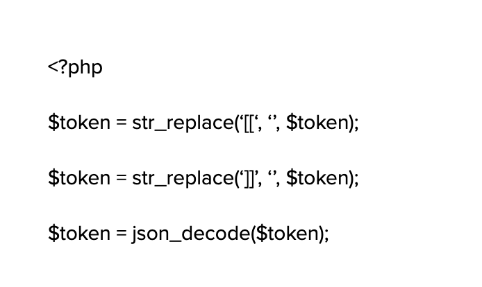 An example of code