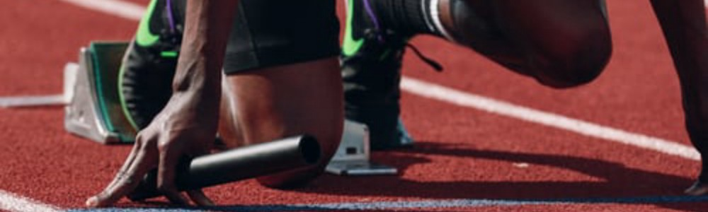 Athlete getting ready on the track