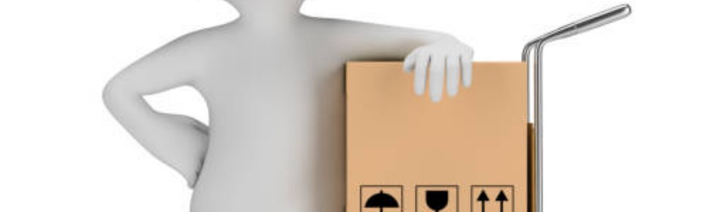 3d Clip art image representing the delivery of packages