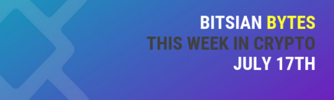 bitsian-plug in all your exchanges into one screen. this is our week in review.