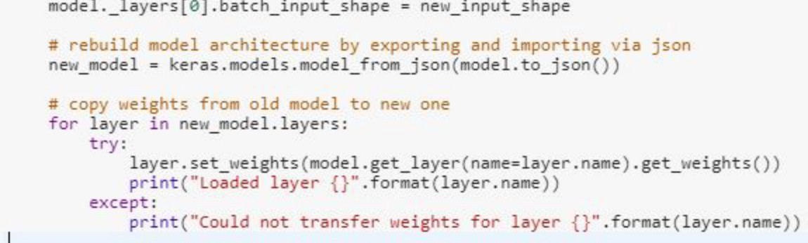 Changing input size of pre-trained models in Keras