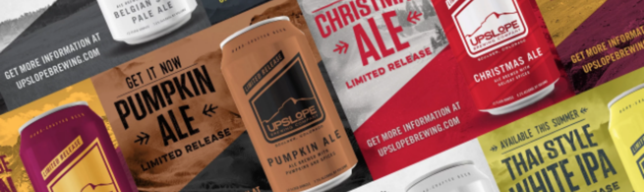 Limited release custom retail packaging for Upslope Brewing by Anthem Branding