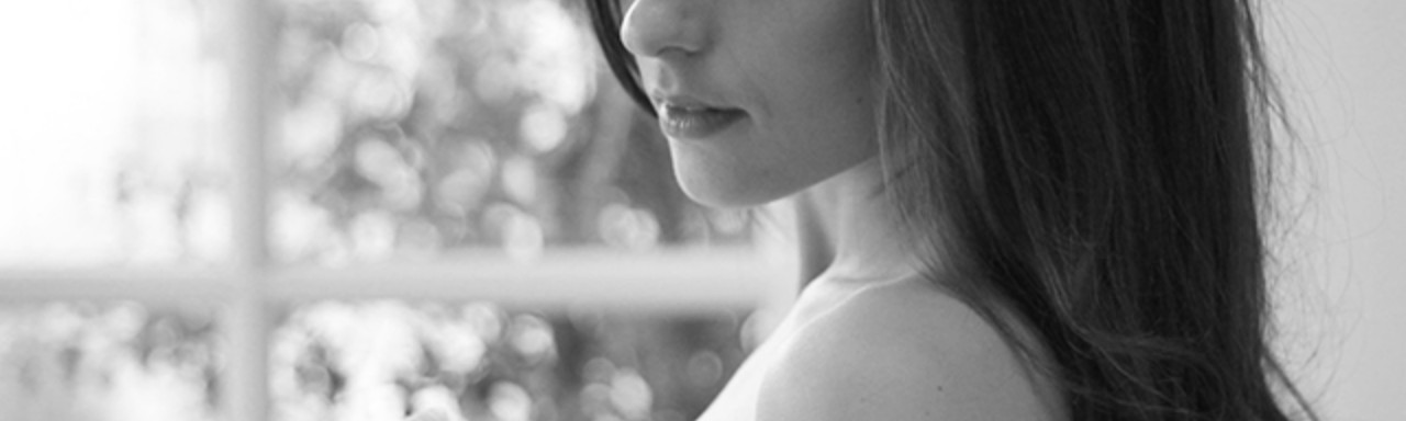 This is me two months before my mastectomy. Because of course I have artful photos of my real boobs saved on my desktop.