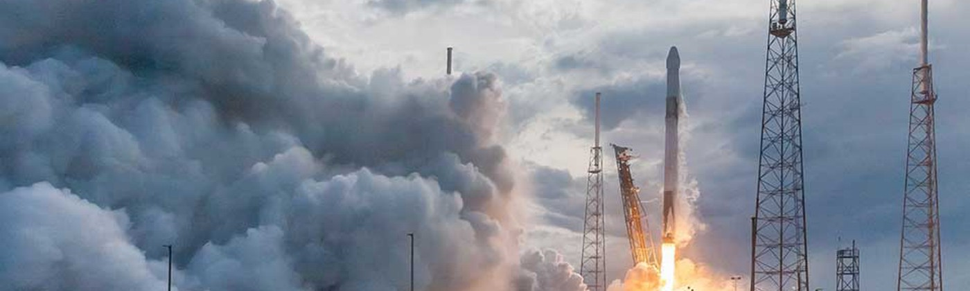US company SpaceX is one of several who are developing reusable launchers. Image credit - Bill Jelen/Unsplash