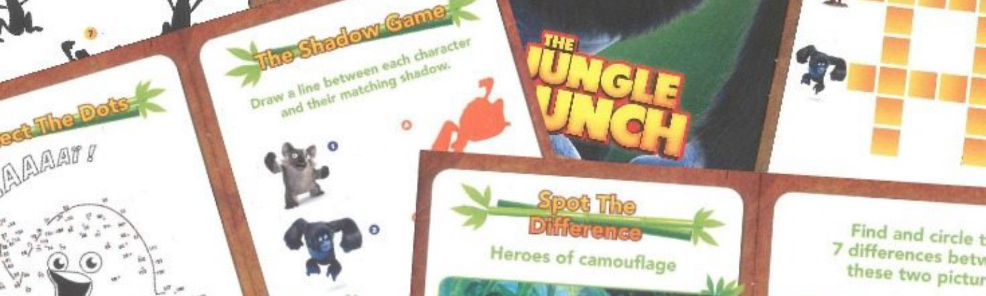 The Jungle Bunch Activity Sheets and DVD