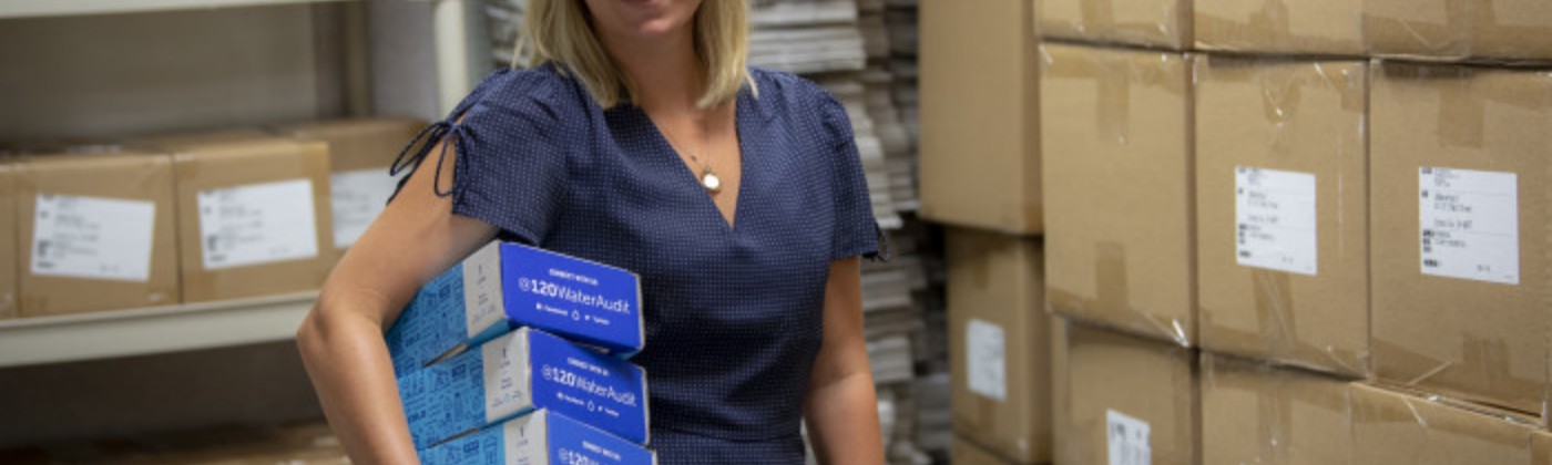 CEO and Co-Founder Megan Glover shipping testing kits to state agencies and municipalities