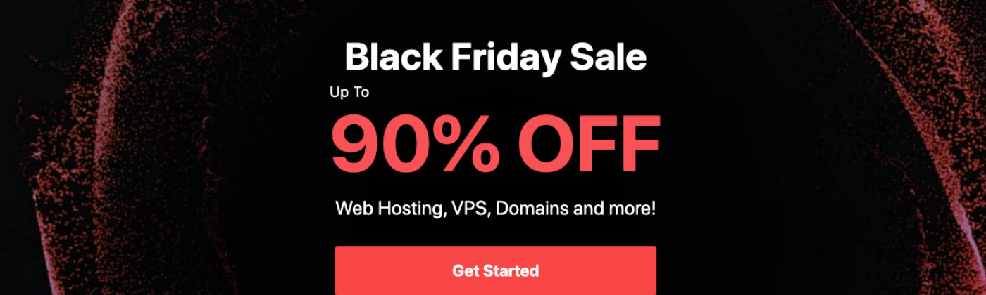 Hostinger's 90% off black Friday hosting deal