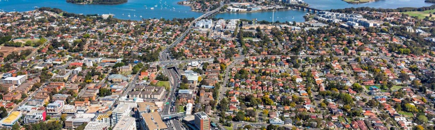 Aerial view of Ryde to the South (Photo: City of Ryde)