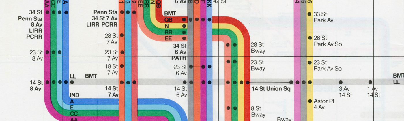 New York Subway Guide in 1972