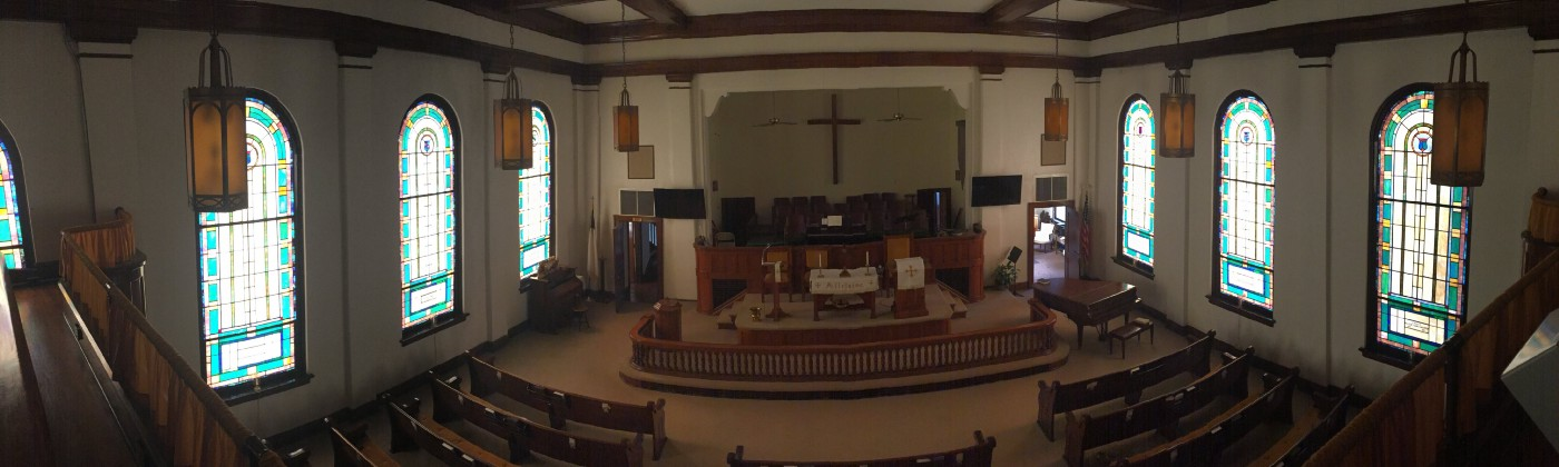 Lincoln Park UMC's sanctuary in Knoxville, TN
