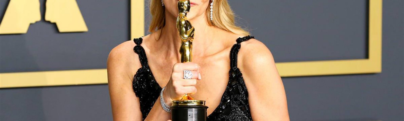 Laura Dern accepts award for Best Actress in Marriage Story at the Oscars 2020