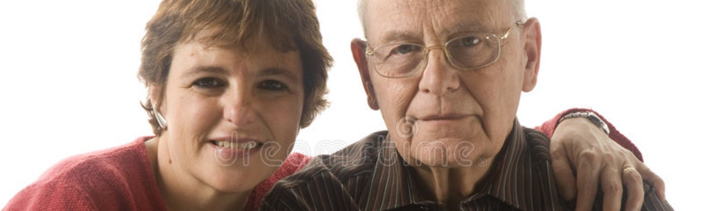 Image of an older father with a daughter