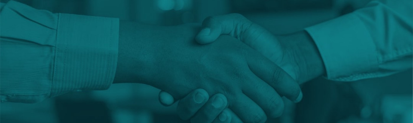 shaking hands against blue background — featured image for building trust
