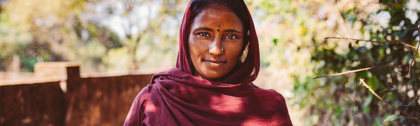 Kind-eyed woman in Goa, India
