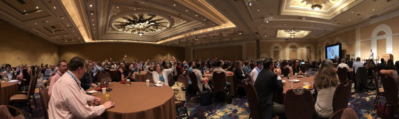 A panoramic photograph of the opening plenary.