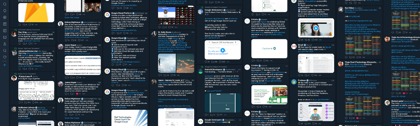 Screenshot of my TweetDeck setup