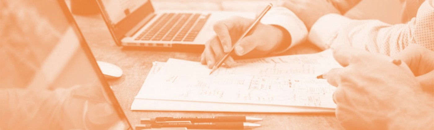 business people writing and laptops orange tint — Customer Best Practices feature image