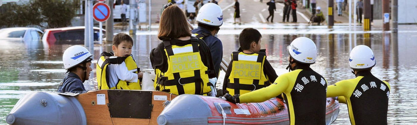 Flood rescue after 2019 typhoon in Japan