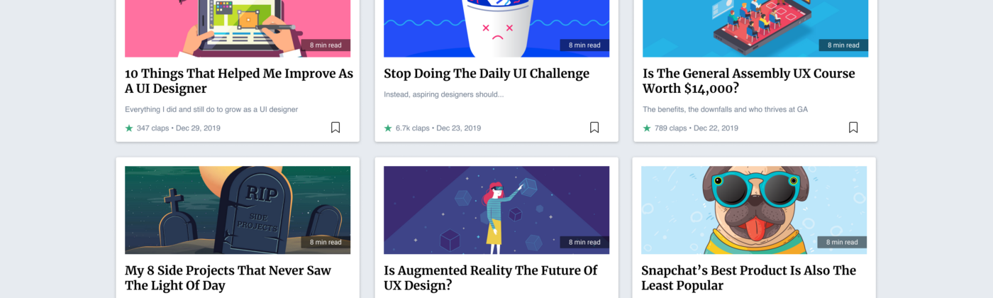 Header image displaying a grid of articles