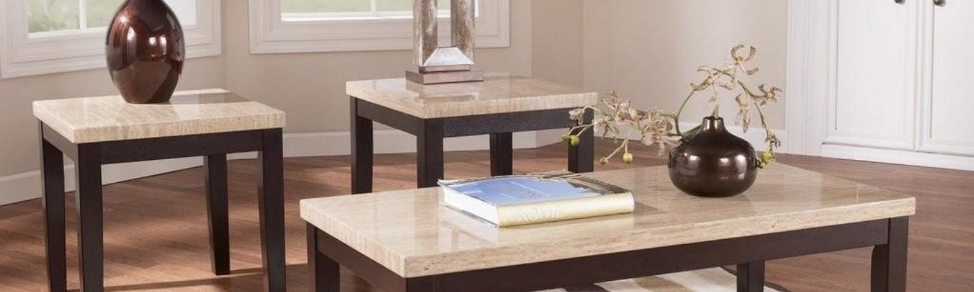 Stunning Natural Stone Slab Custom Desks, Coffee, & End Tables: A