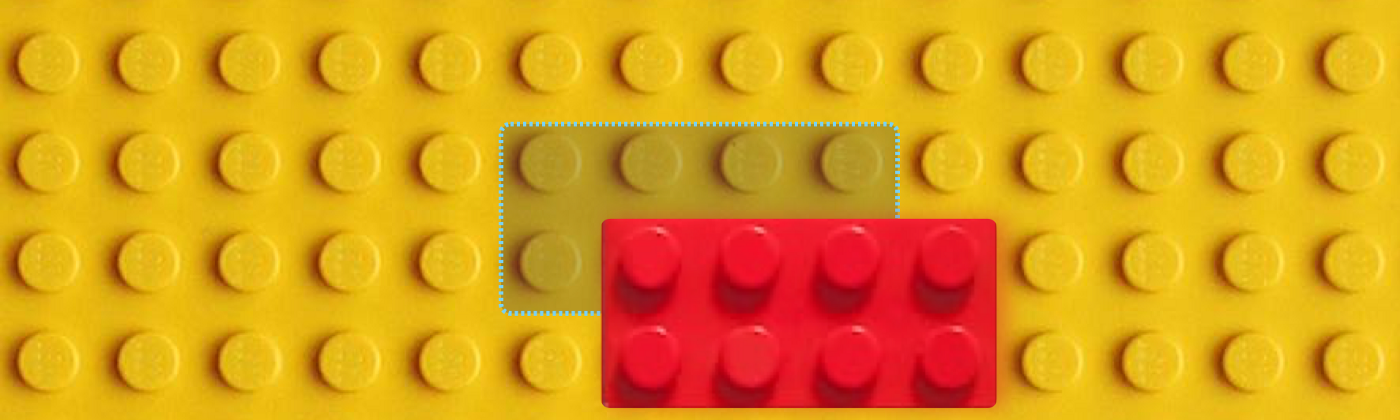 Lego bricks with one being off center