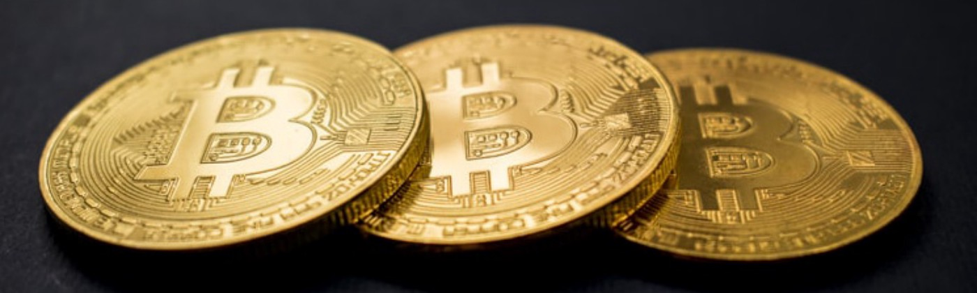 An image of a three bitcoin mockups.