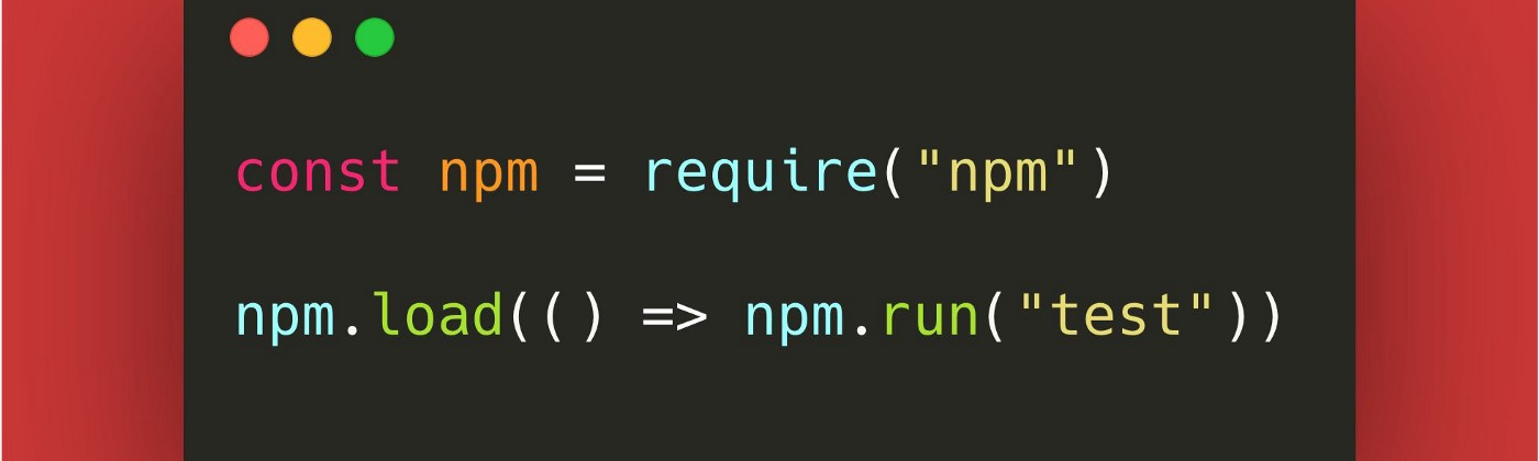 Npm can be installed as a local dependency and scripts can be launched though npm.run().