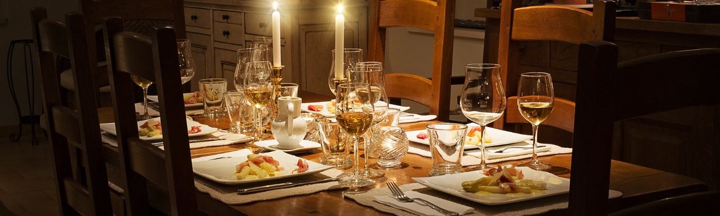 holiday table set for authors who are finishing their writing so they can celebrate