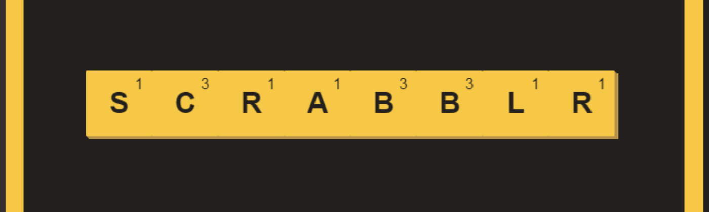 Scrabblr — A React game with react-dnd and react-flip-move - By