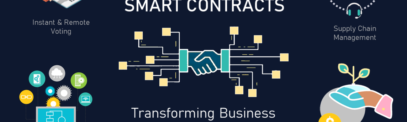 A DLT Labs image depicting how smart contracts can transform business processes