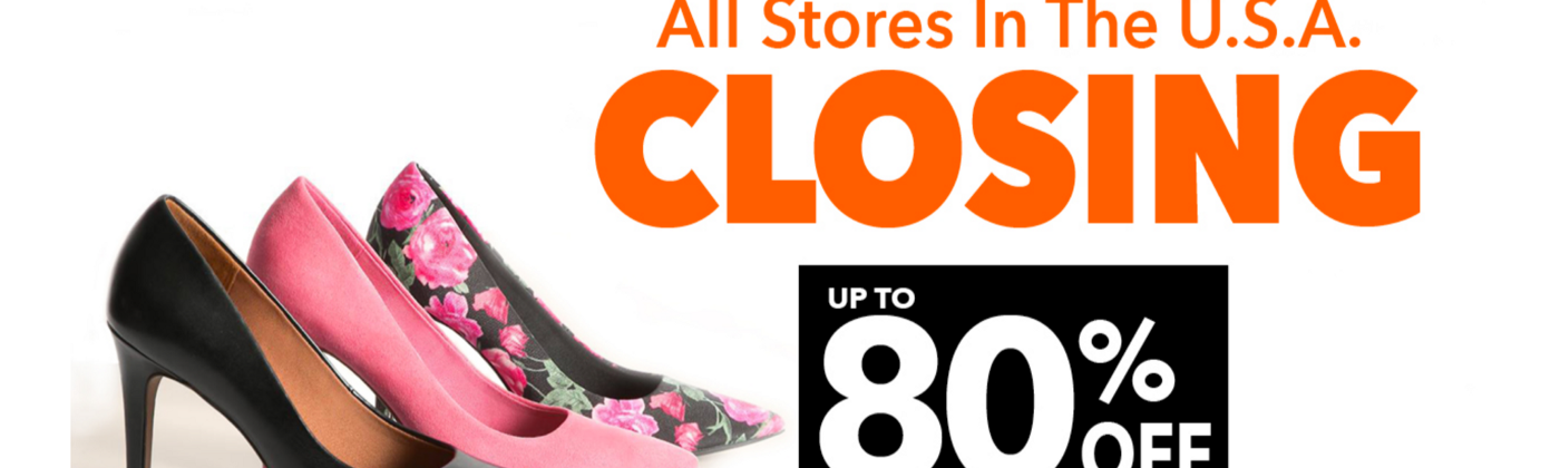 Payless going out of business advertisement.