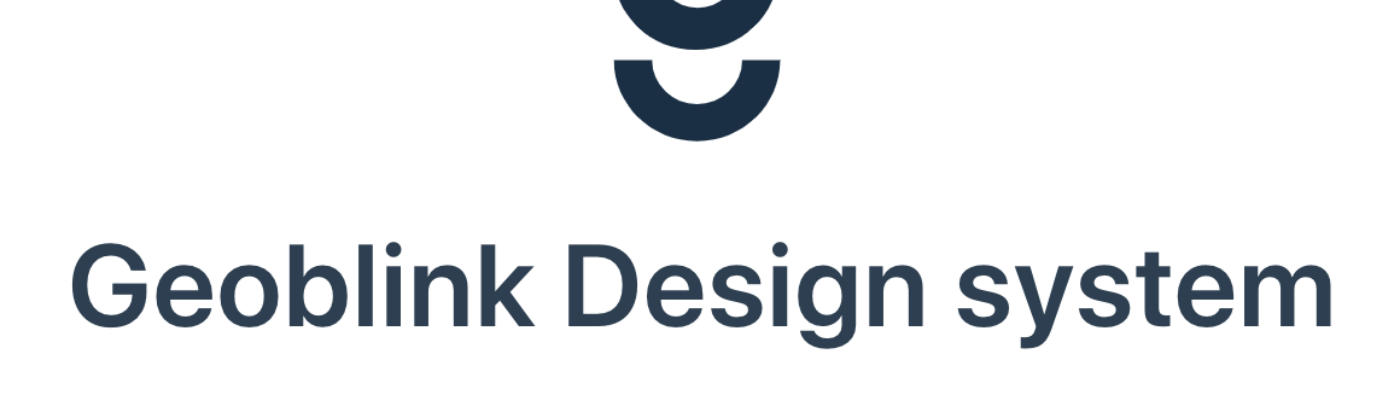 Geoblink Design System documentation site header