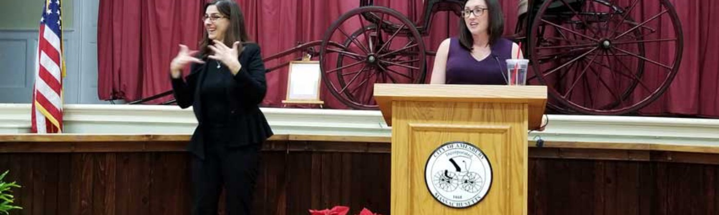 Inauguration speech by Amesbury's Mayor Kassandra Gove