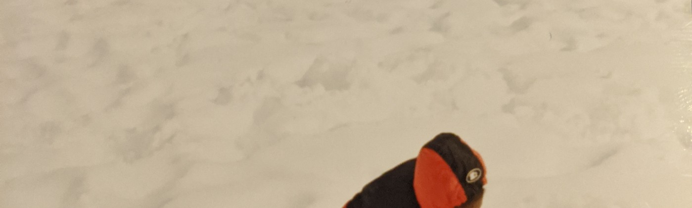 Baby me in the snow