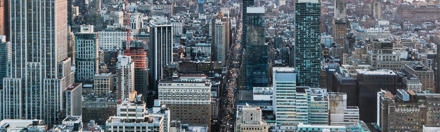 New York City arial view.