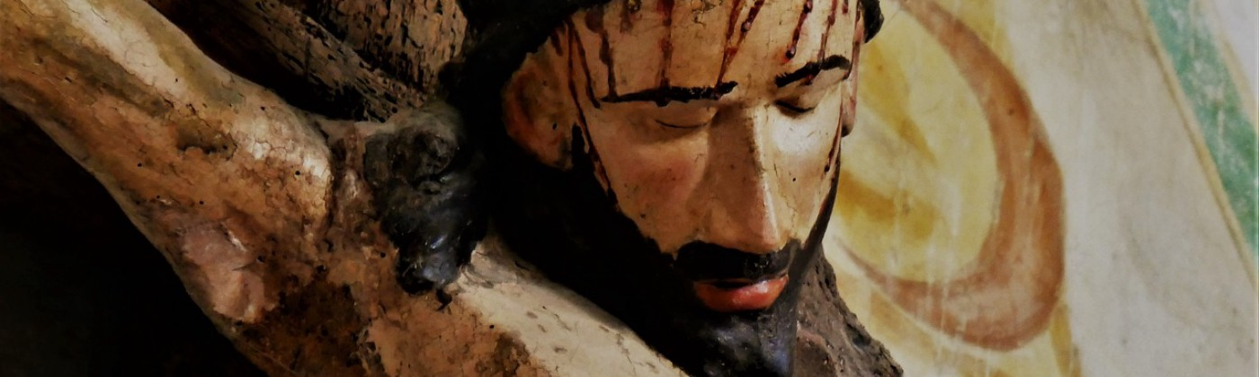 Painting of Jesus dying on the cross