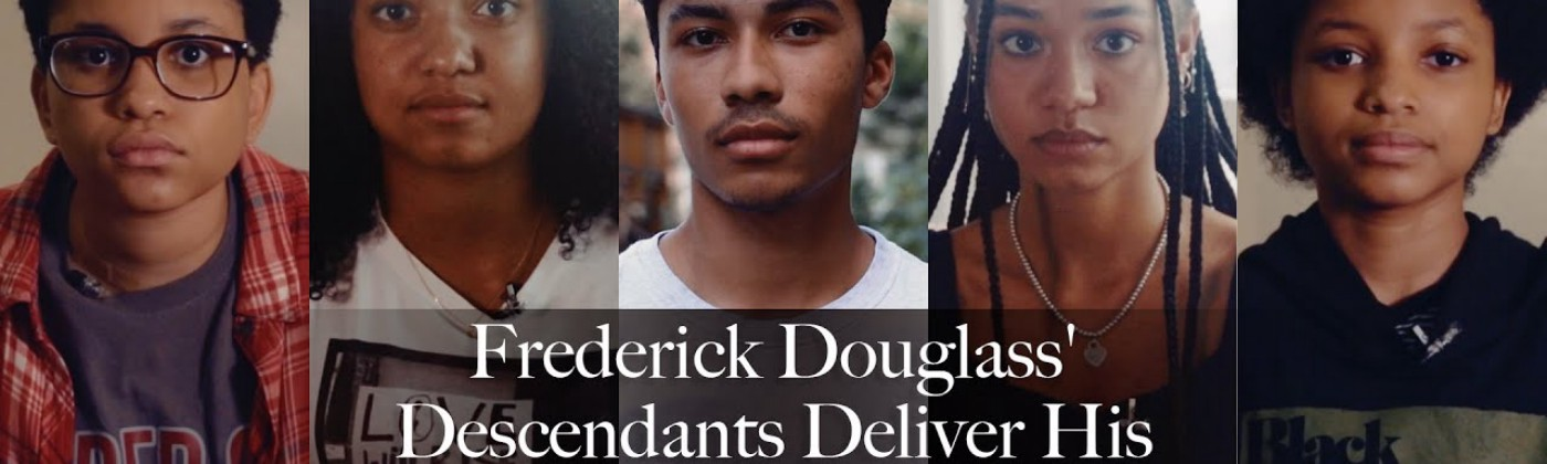 """The descendants of Frederick Douglass recite his speech for """"What to the Slave is the Fourth of July?"""""""