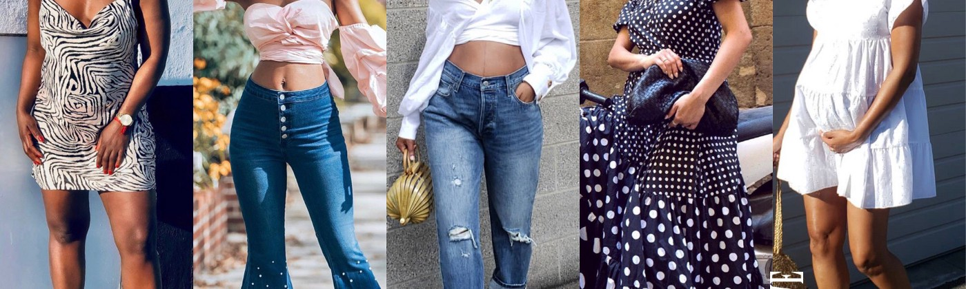 pregnant women in modern maternity clothes fashion and style