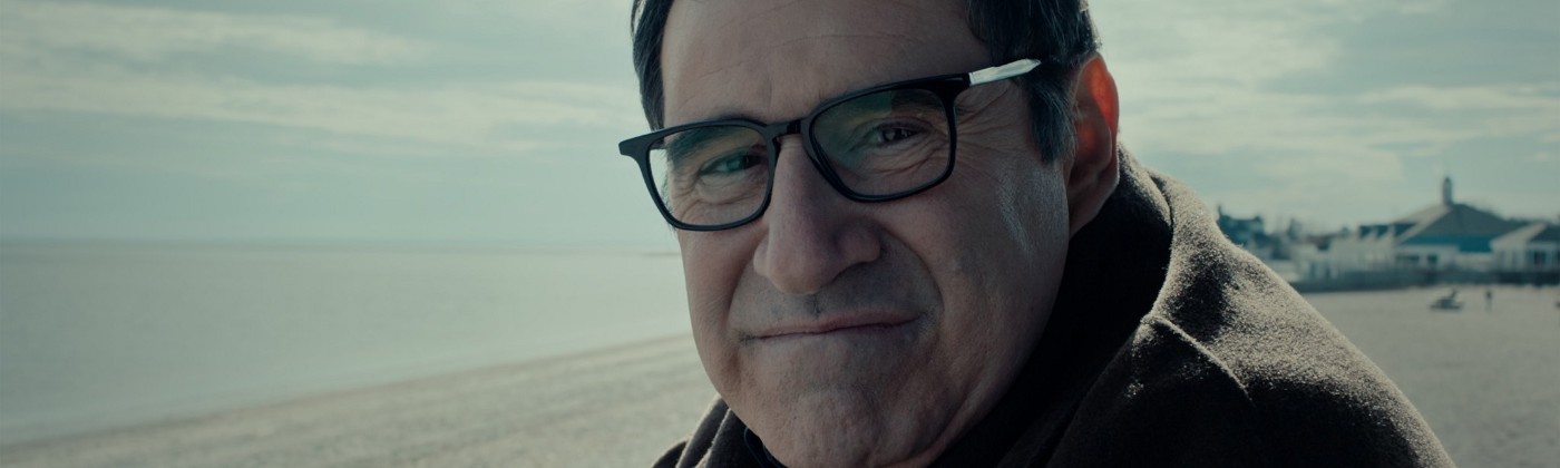 """Felix (Richard Kind) stars longingly into his projected companion in """"Auggie"""""""