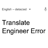 Translate Engineer Error