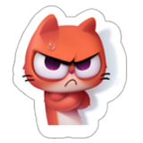 Angry Red Cat