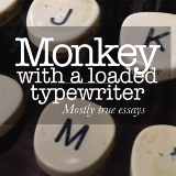 Monkey with a loaded typewriter