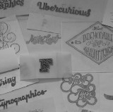 I draw letters.