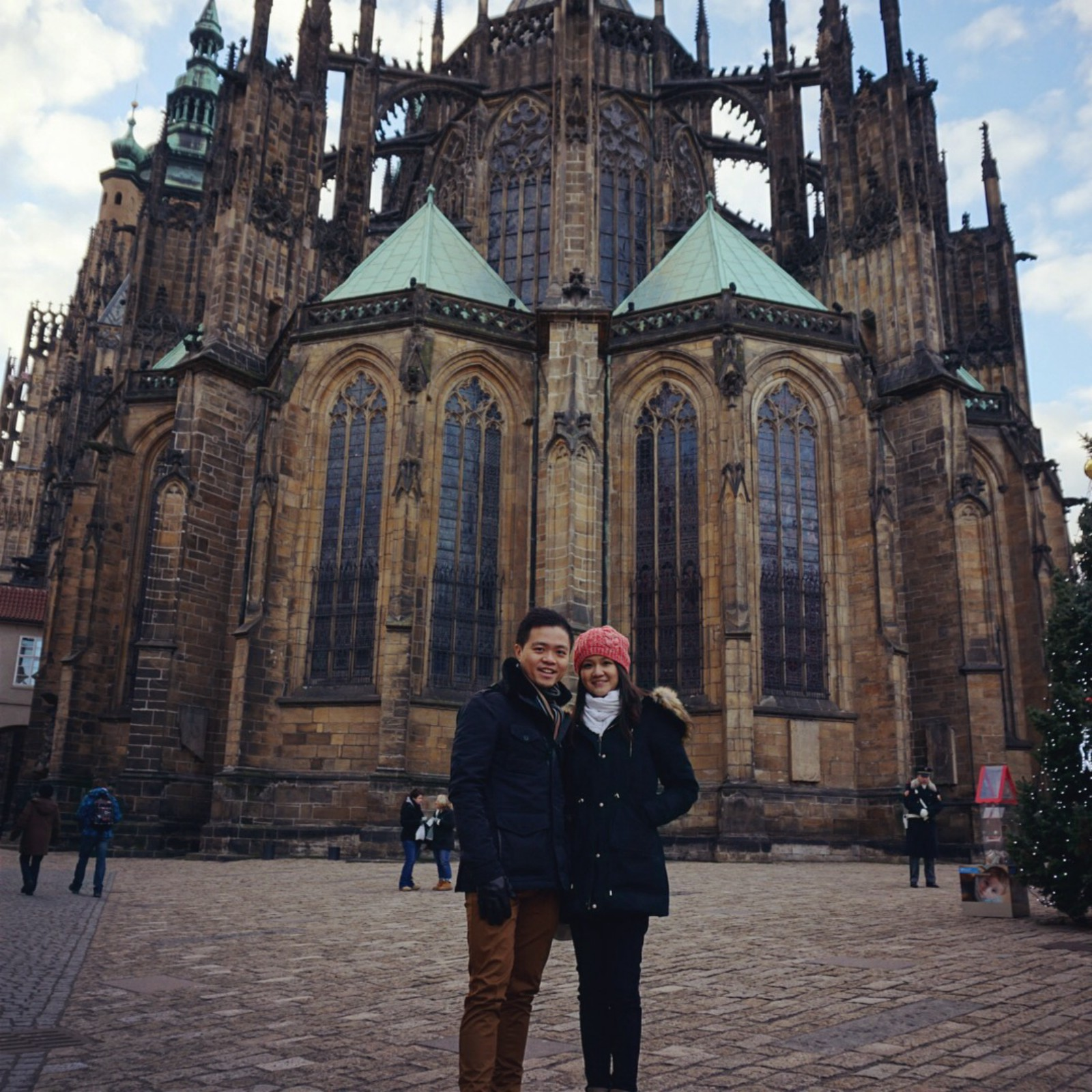 Us in front of St Vitus Catherdral