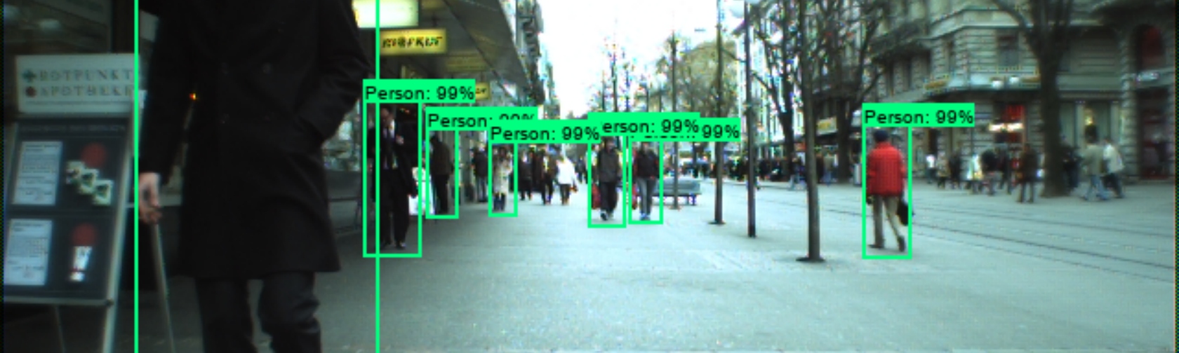 Pedestrian detection on ETH data set with Faster R-CNN