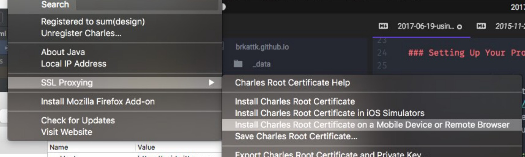 install charles root certificate windows 10
