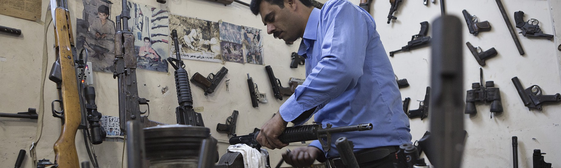 We Visited a Kurdish Gunsmith Who Repairs Captured Weapons