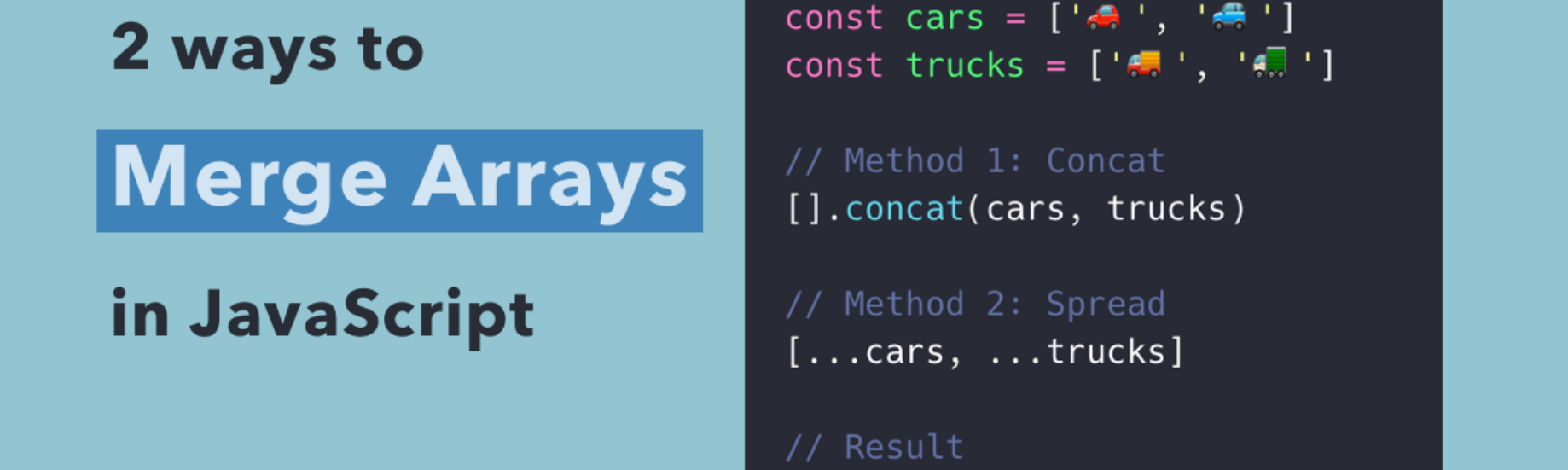2 Ways to Merge Arrays in JavaScript | SamanthaMing com