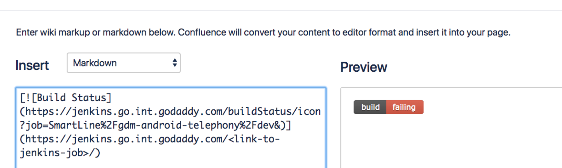 Using jenkins embeddable build plugin to spruce up confluence and github