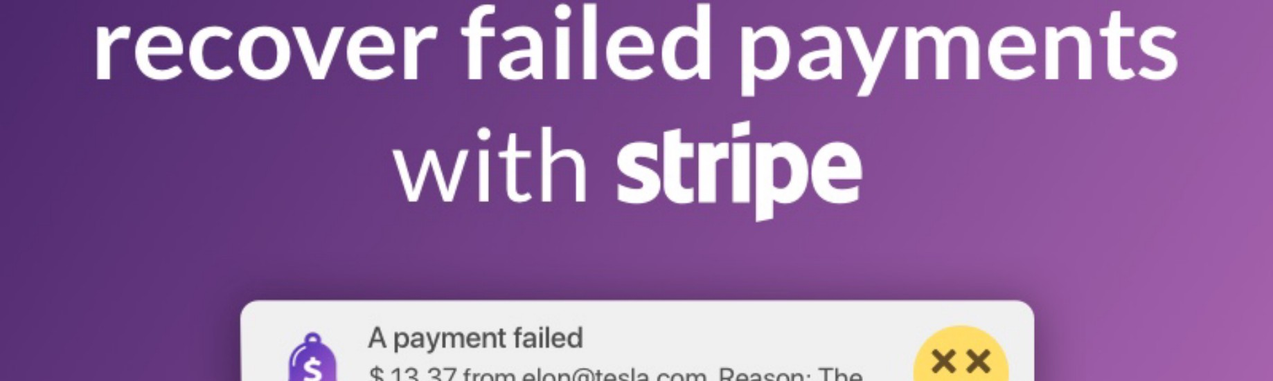 How to recover failed payments with Stripe — CashNotify